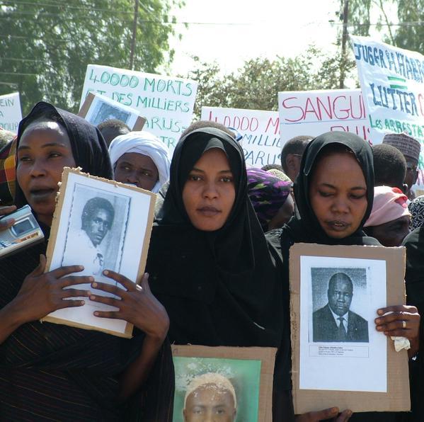 Victime de Habré lors de l'attente du verdict. (Ph.DR)