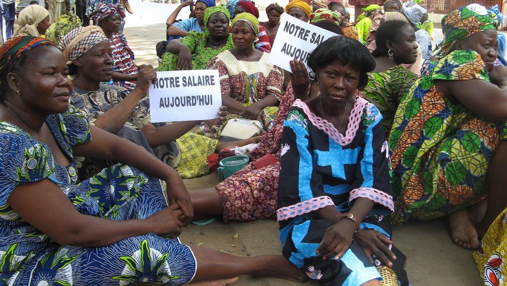 Des fonctionnaires tchadiens en sit-in à la bourse du travail pour revendiquer leur salaire